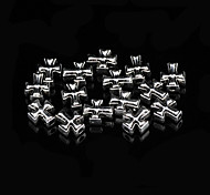 Classic Cross Silver Alloy Charms 20 Pcs/Bag (Silver)