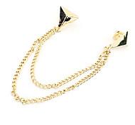 Big design triangle punk brooch collar chain collar clip N117