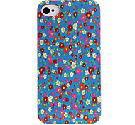Floral Pattern ABS Back Case for iPhone 4/4S