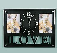 "15 ""H Rectángulo Moderno reloj de pared"
