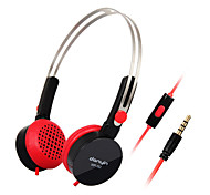 DANYIN WP-182 Stereo Over-Ear fone de ouvido com microfone e remoto para PC / iPhone / iPad / Samsung / iPod
