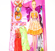 Barbie Doll Wardrobe With Four Dresses And Accessories