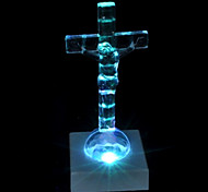 LED Flash Crucifix Chramatic Lamp