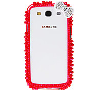 Pearl Pattern Bumper Frame Case with Glue for Samsung Galaxy S4 I9500