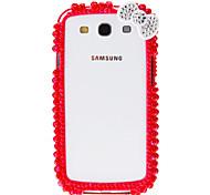 For Samsung Galaxy Case Shockproof / Rhinestone Case Back Cover Case 3D Cartoon PC Samsung S4