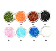 1PCS Laser Glitter Acrylic Powder For 3D Nail Art(Assorted Color,No.1-8)