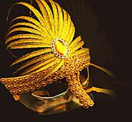 Akhnaton Pharaoh Style Deluxe Carnival Masquerade Plating Mask with Gemstone