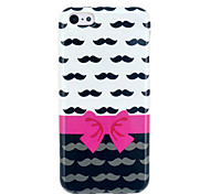 Bowknot & Moustache souple IMD de couverture de TPU pour l'iphone 5C