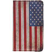 USA National Flag Pattern PU Leather Protetive Pouches for Samsung Tablet P3200