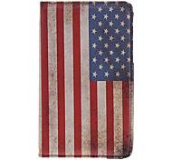 USA Nationalflagge Muster PU-Leder protetive Beutel für Samsung Tablet P3200