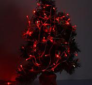 10M 100-LED 6W 420LM Red Light luz de tira conduzida para Decorações de Natal com 8 modos de exibição (220V)