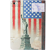 Statue of Liberty Cross Leather Stand Cover for iPad Air