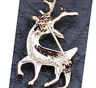 High-quality Crystal Deer Christmas Gift Brooch