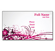 200pcs Personalized 2 Sides Printed Matte Film Wintersweeet Pattern Business Card