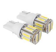 T10 2.5W 10x7020SMD 175LM 6000K Cool White Light LED Bulb for Car (DC 12V,2pcs)