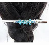 Fashion Beautiful Crystal Bule Flower Hairpins for Women