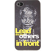 the Head of Nelson Mandela Pattern Hard Case for iPhone 4/4S