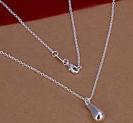 Sweet (Drop) Silver Copper Pendant Necklace(1 Pc)