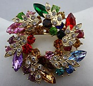 Fashion Beautiful Multicolor Garland Austrian Crystal Brooches