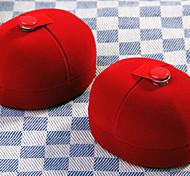 2pcs Red Velvet Jewelry Ring Wedding