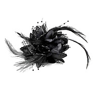 Sweet Black Feather Barrettes FOR Women(Black)(1 Pc)