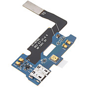 Micro Reemplazo de corriente USB Puerto de carga Flex Cable para Samsung Galaxy Note N7100 2 (Azul y Negro)