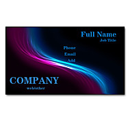 200pcs Personalized 2 Sides Printed Matte Film Red and Blue Light Pattern Business Card