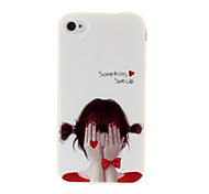 Bashful Beauty Pattern TPU Soft GEL Back Case Cover for iPhone 4/4S