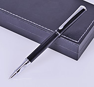 Personalized Gift Business Style Black Metal Engraved Ink Pen