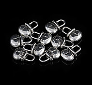 Classic Oval Silver Alloy Charms 20 Pcs/Bag (Silver)