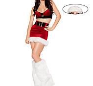 Santa Baby Red Velvet Women's Furry Christmas Costume