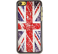 The Union Jack Pattern PC Hard Case with 3 Packed HD Screen Protectors for iPhone 5C