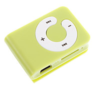 TF Card Reader MP3 Bag Jogador Forma com Clip Verde