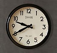 "14.25""H Modern Style Metal Wall Clock"