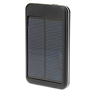 6000T-Pocket Power 5000mAh Solar Power Bank External Battery for iPad/iPhone Black