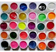 30-Color Perlglanz & Shimmer Farben Glitter Nail Art UV Builder Gel für Maniküre Nails Tipps