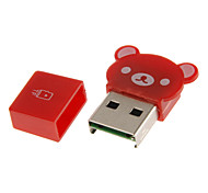 USB 2.0 Memory Card Reader (Red/Blue/Green)