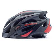 MOON Casque vélo noir + rouge + PC EPS 25 Vents VTT  de protection
