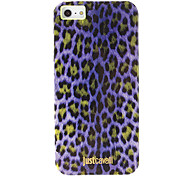 Fashionable Purple Leopard Print Pattern Smooth Anti-shock Case for iPhone 5/5S