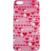 Heart Pattern Back Case for iPhone 5