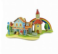 3D Puzzle  Mini Rainbow House Toy  for Kids
