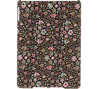 Schöne kleine Blumen-Muster Schwarz Textil Hard Case für iPad Air