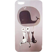 Cute Cat Pattern Back Case for iPhone 5