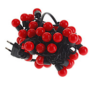 5M 3W 50-LED Red Light Ball Shaped LED Strip Light (220V)