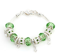 Sweet 6.3cm Women's multicolor Crystal Strand Bracelet(1 Pc)