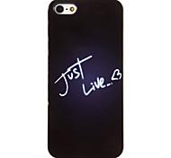 Just Live Letters Pattern PC Hard Case mit 3 Lunch HD Display-Schutzfolien für das iPhone 5/5S