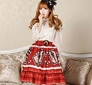 Angelic Pretty Red Alice Poker Lolita Kawaii Skirt Lovely Cosplay