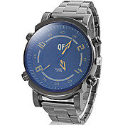 Men's Fashion Round Dial Alloy Band Quartz Analog Wrist Watch Cool Watch Unique Watch