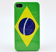 Brazil Flag with Letter Hard Case for iPhone 4/4s