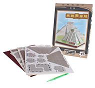 50 Pieces DIY Paper 3D Puzzle Maya Pyramid